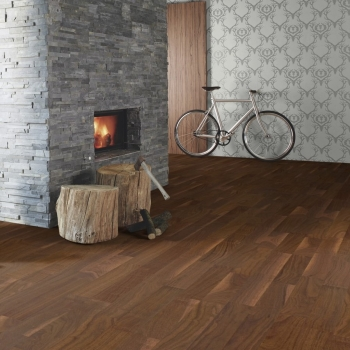 Boen American Walnut Andante 3 Strip Engineered Wood Flooring