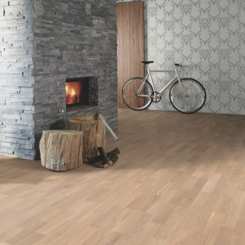 Boen Oak Coral Washed White Oiled 3-Strip Engineered Wood Flooring