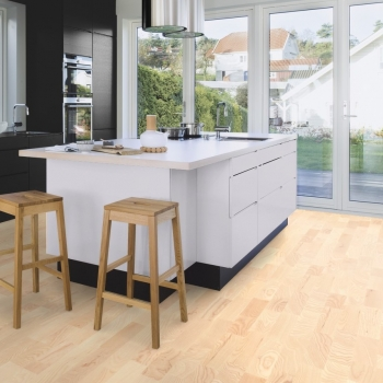 Boen Ash Andante White Pigmented 3 Strip Engineered Wood Flooring