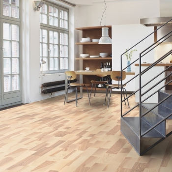 Boen Ash Marcato White Pigmented 3 Strip Engineered Wood Flooring