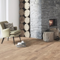 Boen Oak Andante Brushed 3-Strip