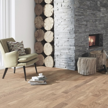 Boen Oak Andante Brushed 3-Strip Engineered Wood Flooring
