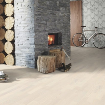 Boen Ash Andante White Live Pure 3 Strip Engineered Wood Flooring