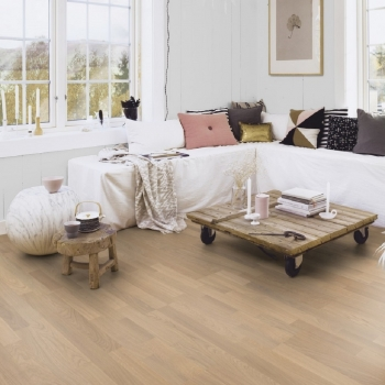 Boen Oak Andante Live Pure 3-Strip Engineered Wood Flooring