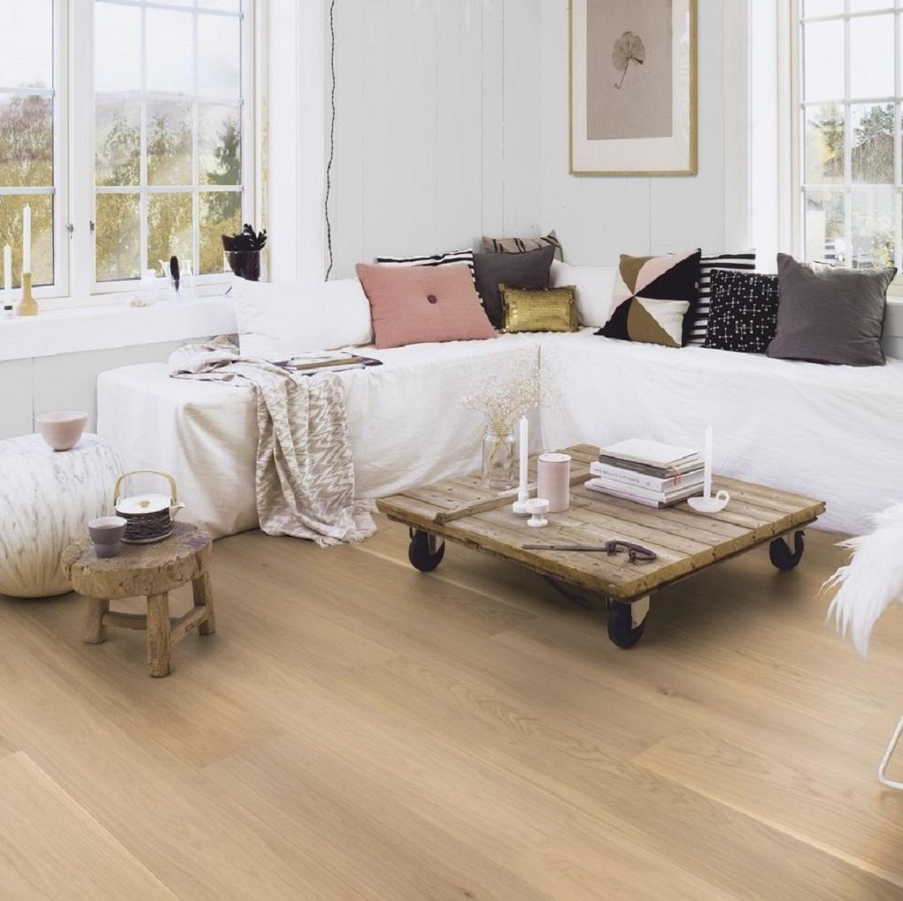 Boen Oak Andante Live Pure 209mm Engineered Wood Flooring