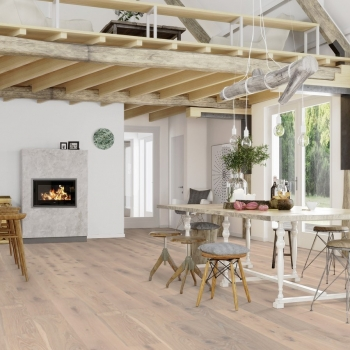 Boen Oak Pale White Live Pure 209mm Engineered Wood Flooring