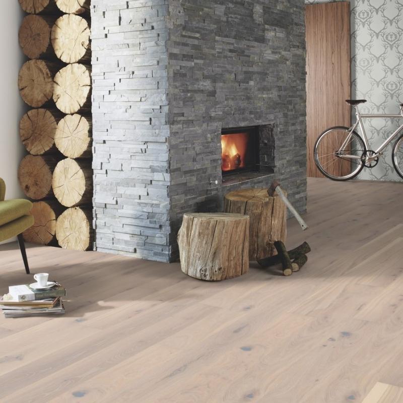 Boen Oak Pale White Live Pure 138mm Engineered Wood Flooring Save
