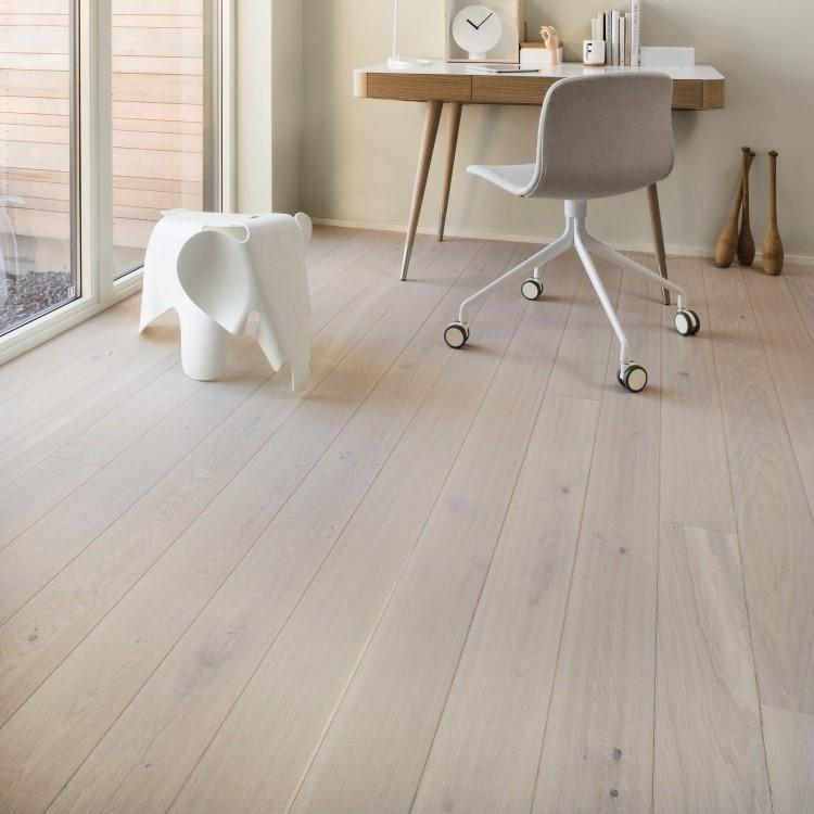 Boen Stonewashed Oak Pearl White 138mm Engineered Wood