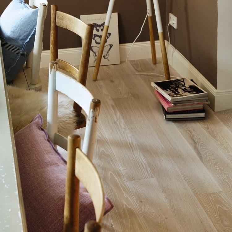 Boen Stonewashed Oak White Stone 138mm Engineered Wood Flooring