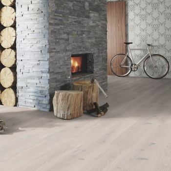 Boen Stonewashed Oak White Stone 209mm Engineered Wood Flooring
