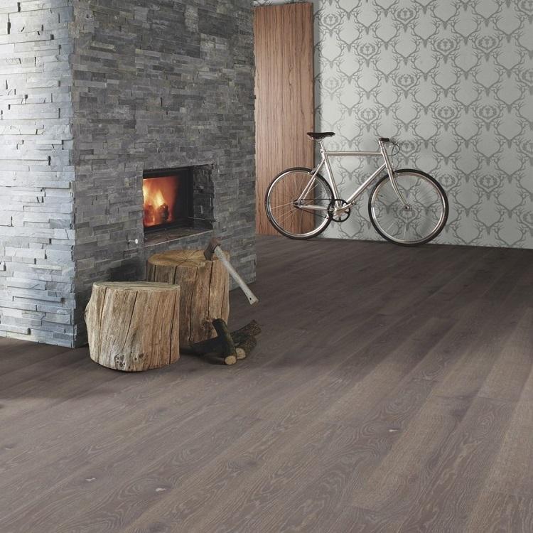 Boen Stonewashed Oak Graphite 209mm Engineered Wood Flooring