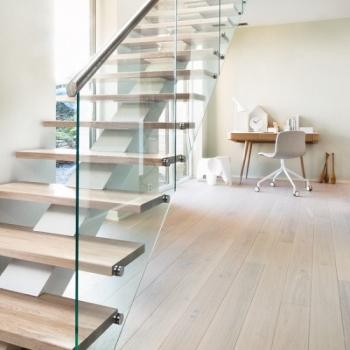 Boen Stonewashed Oak Pearl White 209mm Engineered Wood Flooring