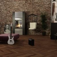 Boen Prestige Herringbone American Walnut Nature Engineered Parquet