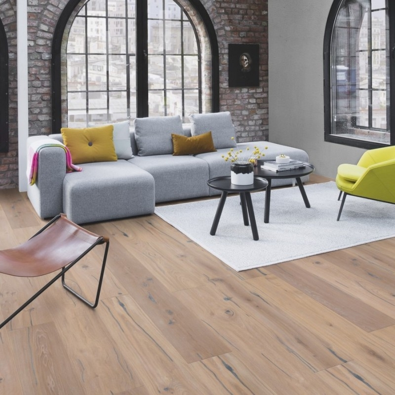 Boen Handcrafted Oak Expressivo White 209mm Engineered Wood Flooring