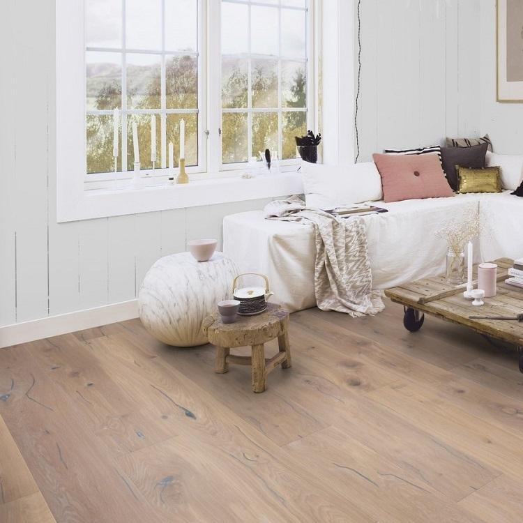 Boen Handcrafted Oak Vintage White 209mm Engineered Wood Flooring