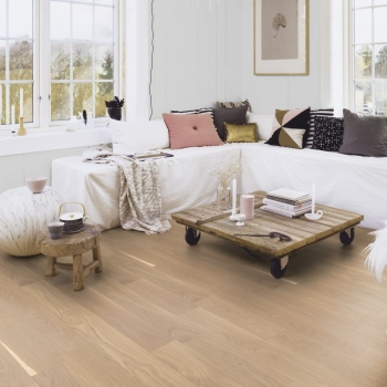 Boen Oak Andante White Stained 138mm Engineered Wood Flooring
