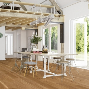 Boen Oak Animoso Bevelled 209mm Engineered Wood Flooring