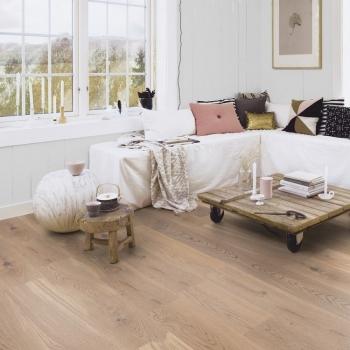 Boen Oak Animoso White Stained 138mm Engineered Wood Flooring