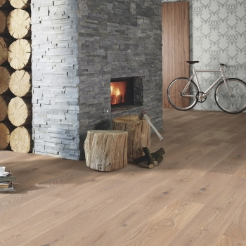 Boen Oak Animoso White Stained 209mm Engineered Wood Flooring