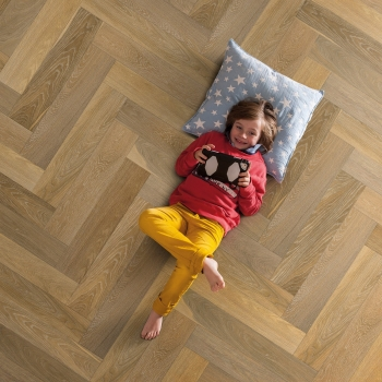 Elka Herringbone Light Smoked Oak Engineered Parquet Flooring