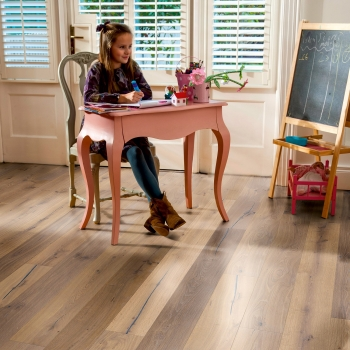 Elka Truffle Oak Handcrafted Brushed and Oiled 14mm 1-Strip