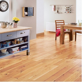 Elka Lacquered Rustic Oak Solid Wood flooring