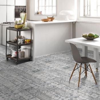 Parador Trendtime 5.50 Ornamentic Grey Click Solid Vinyl Flooring