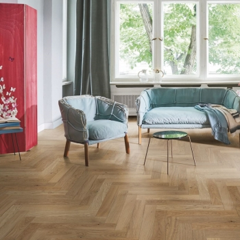 Parador Trendtime 3 Oak Cream Herringbone Engineered Parquet