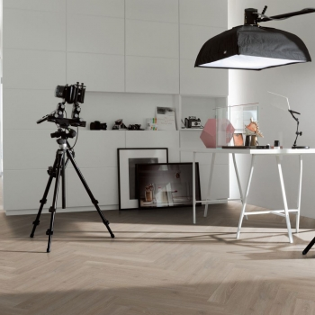 Parador Trendtime 3 Oak Skyline Pearl Grey Natural Laminate Herringbone