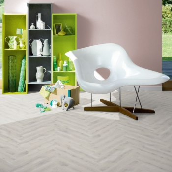 Parador Trendtime 3 Oak Vintage White Antique Laminate Herringbone