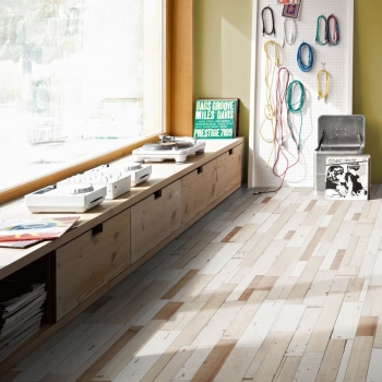 Parador Trendtime 6 Brushboard White Laminate Flooring