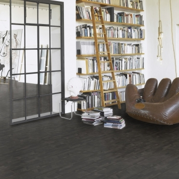 Parador Modular ONE Cross Cut Black HDF Backed Resilient Flooring