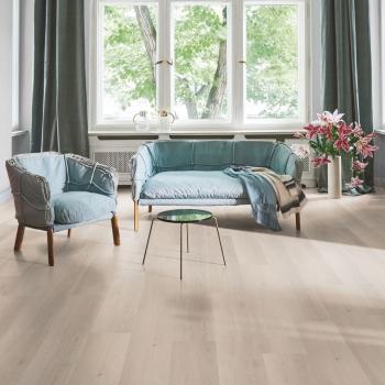 Parador 4.3 Oak Skyline White Solid Vinyl Flooring