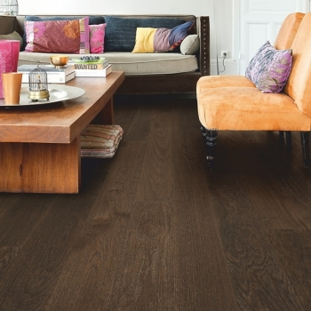 Quickstep Castello Coffee Brown Oak Matt Engineered Wood Flooring