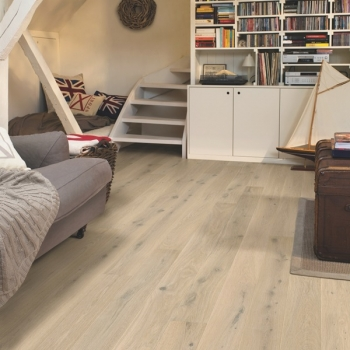 Quickstep Compact Oak Himalayan White Extra Matt Engineered Wood