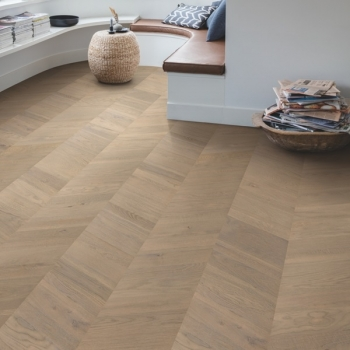 Quick-step Intenso Oak Eclipse Oiled Chevron Engineered Wood Flooring
