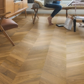 Quickstep Intenso Traditional Oak Oiled Chevron Engineered Wood Floor