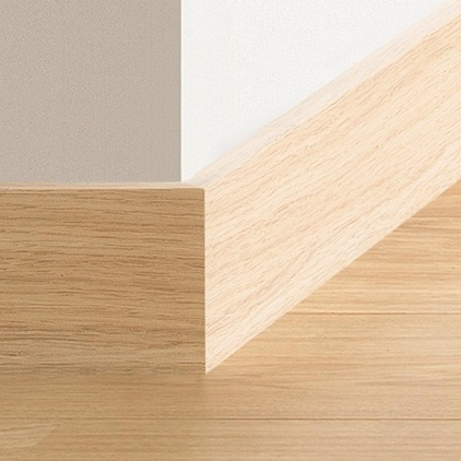 Eurocell Co Uk Interior S Skirting Boards 150mm Chamfered Board In White Satin X 5m