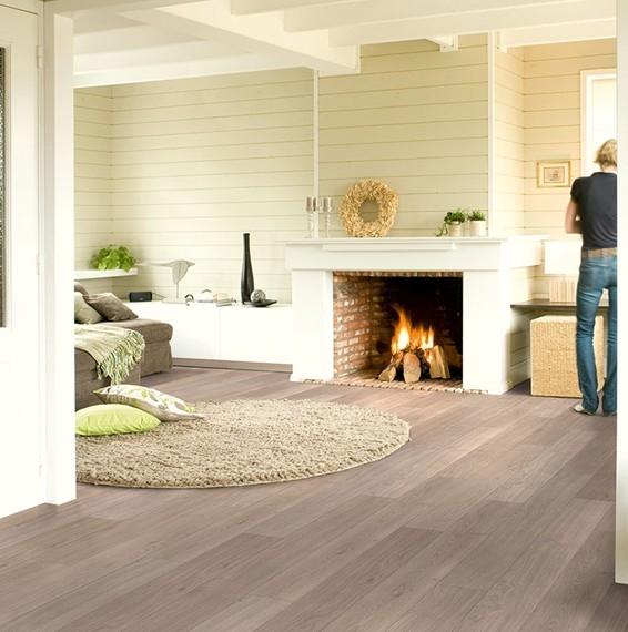 Quick Step Elite Light Grey Varnished Oak Laminate Flooring Save