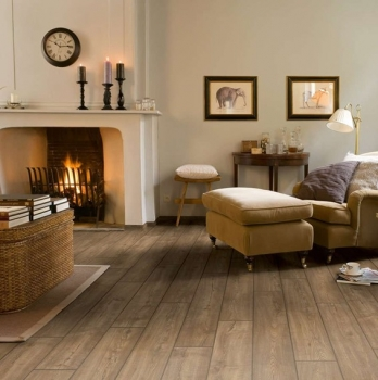 Quick-Step Impressive Scraped Oak Grey Brown Laminate Flooring IM1850