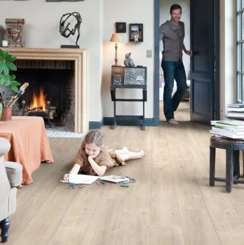 Quick-Step Impressive Saw Cut Oak Beige Laminate Flooring IM1857