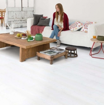 Quick-Step Impressive White Planks Laminate Flooring IM1859