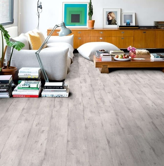 Quick Step Impressive Ultra Concrete Wood Light Grey Laminate Flooring