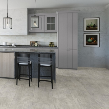 Quick-Step Livyn Ambient Light Grey Travertin Vinyl Flooring AMCL40047