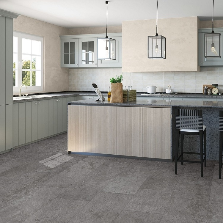 quick step laminate flooring for kitchens step ambient vinyl flooring grey slate amcl40034 9190