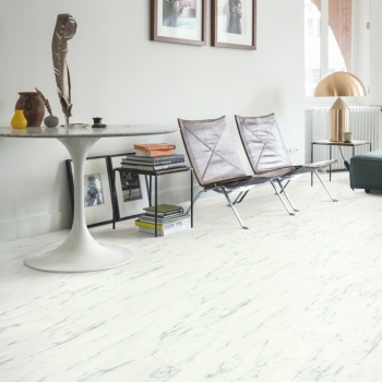 Quickstep Livyn Ambient Glue Plus Marble Carrara White