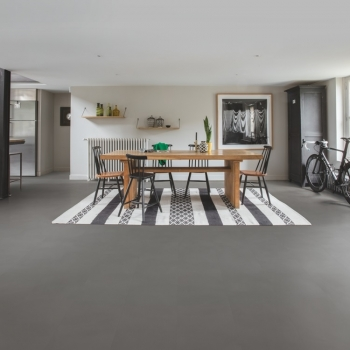 Quick-Step Livyn Ambient Minimal Medium Grey Vinyl Flooring AMCL40140