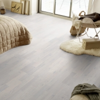 Tarkett Heritage Oak Chalk White 3 Strip Engineered Wood Flooring