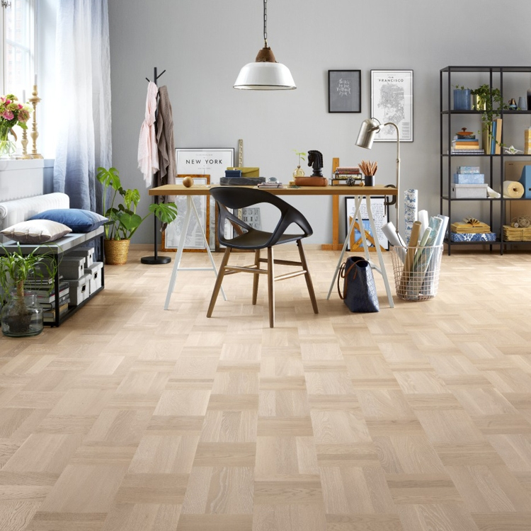 Tarkett Atelier Noble Parquet Oak Scandinavian White Save More At - When was parquet flooring popular