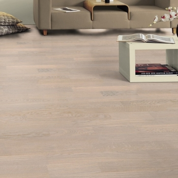 Tarkett Oak Cotton White DuoPlank Engineered Wood Flooring